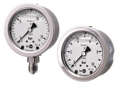 Pressure gauge, acidproof, Ø63 mm, glycerin damped