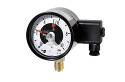 Pressure gauge, with electrical contact, Ø100 mm